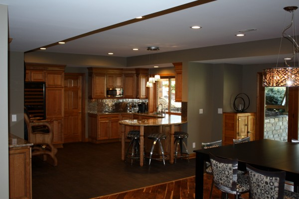 Newly Completed Basement Remodel by Cullen Brothers