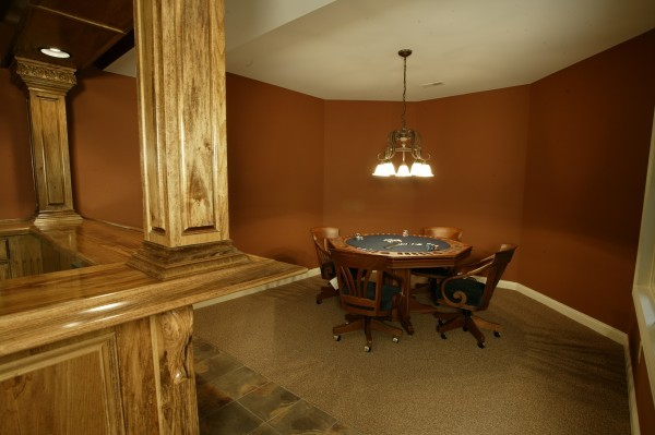 Finished Basement in a Custom Home Built by Cullen Brothers